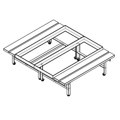 General Products-Double Door Mine Locker-Double Bench Locker