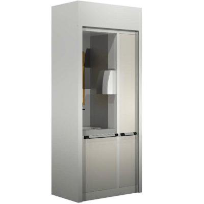 Workstation-L Range-Wash Cabinet