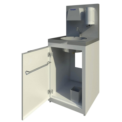 Workstation-M Range-Basin Cabinet with splash